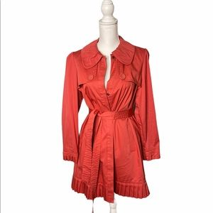Fashionable Belted Elle Trench Coat